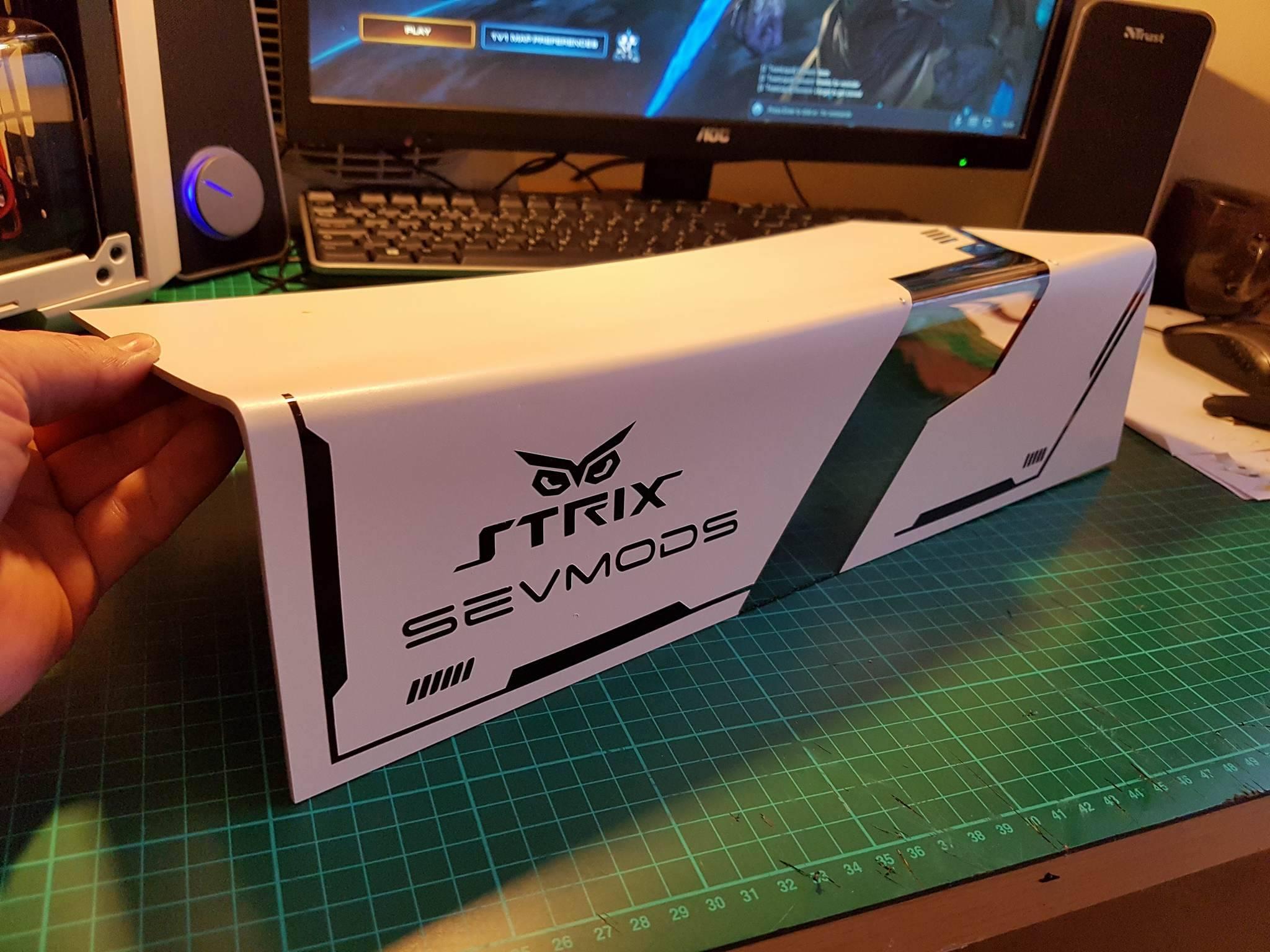 PC Mods : Custom PSU Cover – Strix Sevmods